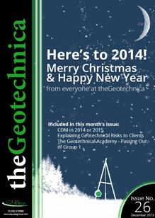 theGeotechnica December 2013 cover